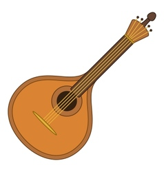 Musical instrument mandolin vector