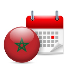 Icon of national day in morocco vector