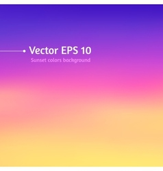 Blurred sunset colors background vector