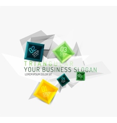 fresh business abstract infographic vector image