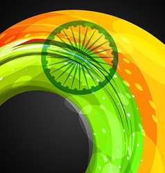 Indian flag in wave style vector