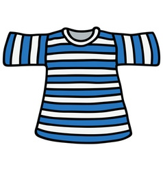 Striped t-shirt vector