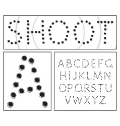 Shooter alphabet vector
