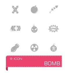 Bomb icon set vector