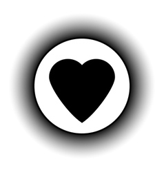 Love sign button vector