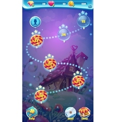 Sweet world mobile gui map screen video web games vector