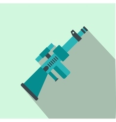 Toy gun flat icon vector