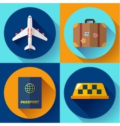 Set of flat quality travel icons vector