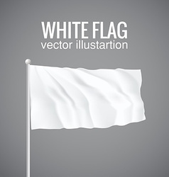 Blank white flag 3d eps 10 vector
