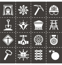 Mining icon set vector