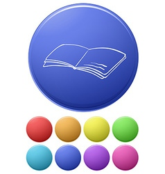 A big circle with an image of a book vector image vector image
