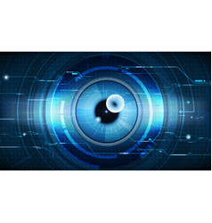 abstract technological eye scanning security vector image