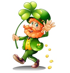 An old man celebrating St Patricks Day vector image vector image