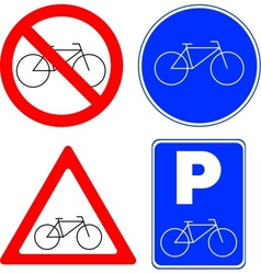 Bicycle symbols vector image vector image