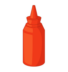 Bottle of ketchup icon cartoon style vector