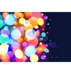 Bright colors bokeh light effect background vector image vector image