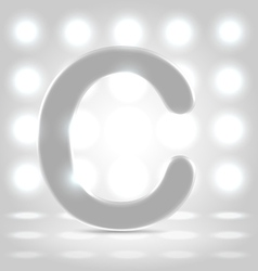 C over lighted background vector image vector image