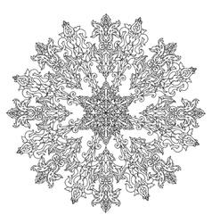 Circle christmas balls ornament vector