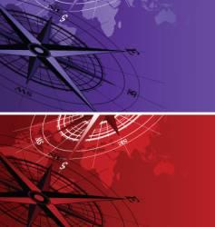 Compass map vector