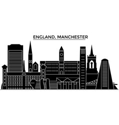 England manchester architecture city vector
