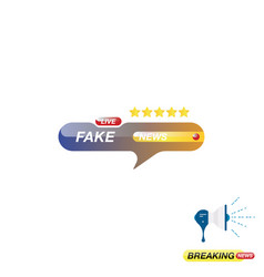 Fake news icon for journalism of news tv channels vector