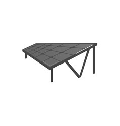 flat solar panel photovoltaic module vector image