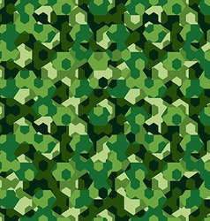 Forest camouflage geometric hexagon seamless vector image