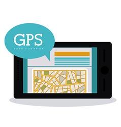 GPS design vector image