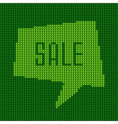 Green knitted sale bubble for your design vector