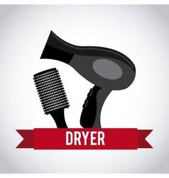 hair dryer design vector image vector image