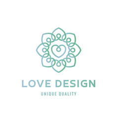 Heart love sign design template logo flat style vector