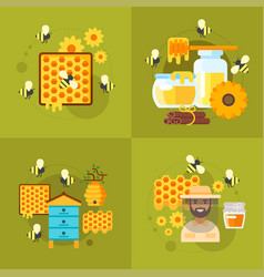 Honey and beekeeping vector