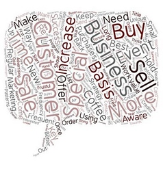 Increase Customer Frequency text background vector image vector image