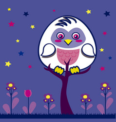 Owl in the nigth vector