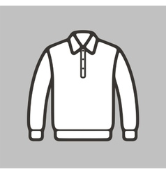 Polo jumper icon vector image
