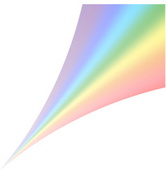 Rainbow icon realistic isolated white background vector