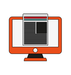 Screen and document design vector