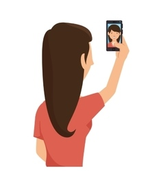 Selfie photography technology icon vector
