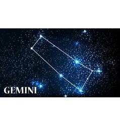 Symbol Gemini Zodiac Sign vector image