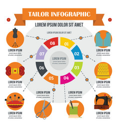 Tailor infographic concept flat style vector