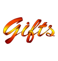 Title gifts vector