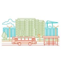 Urban scene - line vector