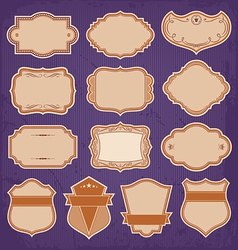 Vintage Frame Labels Set vector image