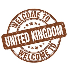 welcome to United Kingdom vector image vector image