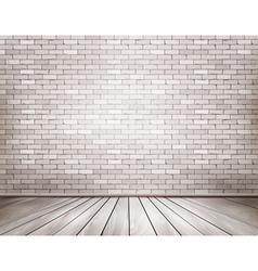 White brick room vector