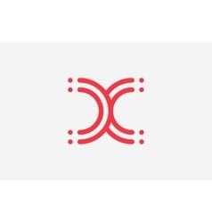 x letter logo design line logo creative logo vector image vector image