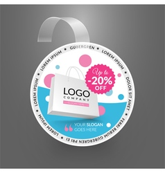 Wobbler design template sale event vector