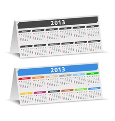 2013 desk calendars vector