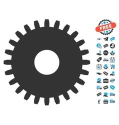 Cogwheel Icon With Free Bonus vector image