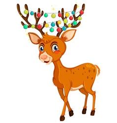 Christmas theme with reindeer and lights vector image
